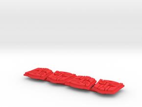 Titan Master Autobot Symbol Stands (4) in Red Processed Versatile Plastic