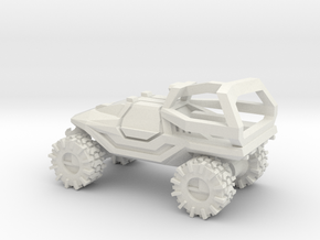 All-Terrain Vehicle closed cab with Roll Over Prot in White Natural Versatile Plastic