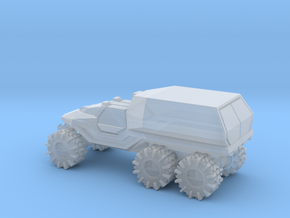 All-Terrain Vehicle 6x6 with enclosed cargo area in Smooth Fine Detail Plastic