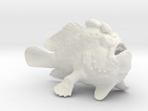 Frogfish15cm in White Natural Versatile Plastic