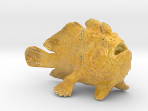 Frogfish15cm in Glossy Full Color Sandstone