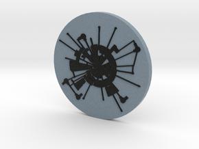 Moonbase Alpha Coin (Space:1999) = DESKAPADES = in Full Color Sandstone: Small