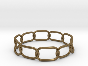 Chained Bracelet 68 in Polished Bronze