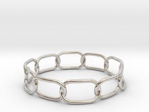Chained Bracelet 75 in Platinum
