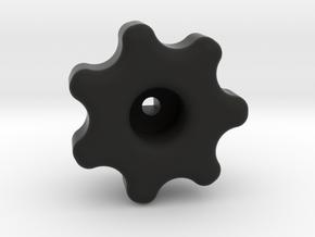Water knob in Black Natural Versatile Plastic