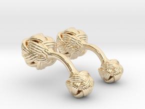 Algerian Knot Cufflink in 14K Yellow Gold