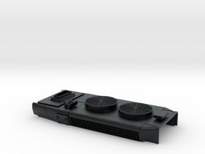 DB0004 SD40-2W DB Mxd Fans, High Stk, Rblt 1/87.1 in Black Hi-Def Acrylate
