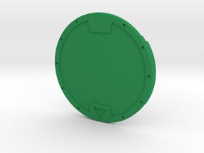 Yo-Kai Medal 3D in Green Processed Versatile Plastic