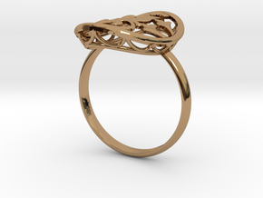 Engagement / Wedding Flower ring RWS000100001 in Polished Brass: 10 / 61.5