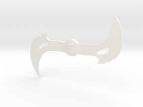 Blade Boomerang 1/6 scale in White Strong & Flexible Polished