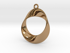 Earring Twisted in Polished Brass