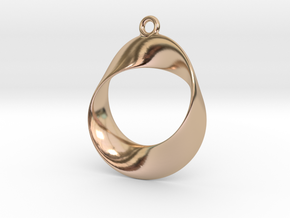 Earring Twisted in 14k Rose Gold Plated Brass