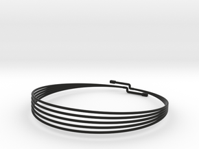CHOKER MAGNETIC SMALL in Black Natural Versatile Plastic