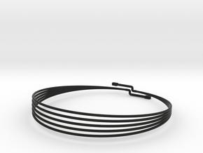 CHOKER MAGNETIC SMALL in Black Natural Versatile Plastic