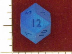 Rhombic 12-sided die in White Natural Versatile Plastic