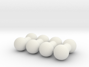 3mm Ball Joint-4pack in White Natural Versatile Plastic
