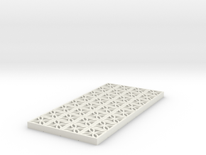 1/25 Breezeblock C 4x8 panel in White Natural Versatile Plastic