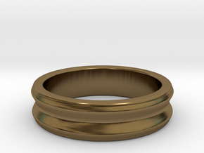 C ring - Size 5 to 13. in Polished Bronze: 5 / 49