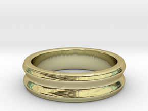 C ring - Size 5 to 13. in 18k Gold Plated Brass: 10 / 61.5