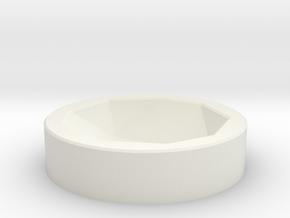 D20 Socket in White Natural Versatile Plastic