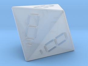 7 Segment Style D8 Die in Smooth Fine Detail Plastic