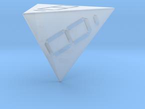7 Segment Style D4 Die in Smooth Fine Detail Plastic