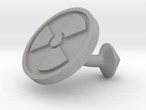 SINGLE Cufflink for NUKE - Nuclear Hazard in Aluminum