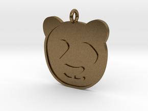 Panda Pendant in Natural Bronze