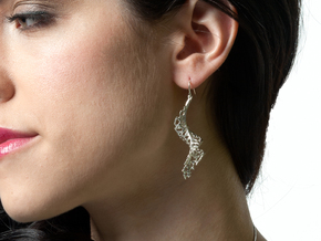 Spiral Earrings - 1 pair in Polished Silver