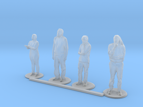 HO Scale Standing People 4 in Smooth Fine Detail Plastic