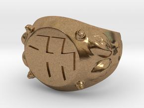 Hellfest Signet Ring in Natural Brass: 9 / 59