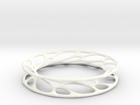 Convolution Bangle in White Strong & Flexible Polished: Small