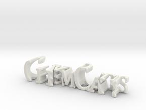 3dWordFlip: ChemCats/Waddell in White Natural Versatile Plastic