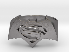 SuperMan Vs Batman Size 11 in Polished Nickel Steel