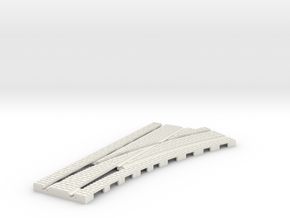 P-165stw-RIGHT-point-250r-100-live-3a OO gauge in White Natural Versatile Plastic