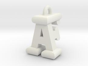 3D-Initial-AF in White Natural Versatile Plastic
