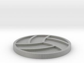 Volleyball Drink Coaster in Metallic Plastic