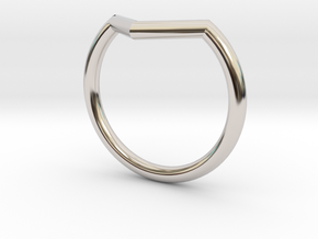 V Ring in Rhodium Plated Brass: 7.75 / 55.875