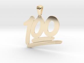 100 Emoji Pendant  in 14k Gold Plated Brass