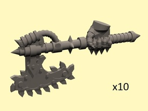28mm Chain axe with evil hand (right) in Smoothest Fine Detail Plastic