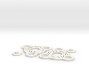 3d Print Spinner 2a in White Strong & Flexible: Small