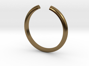 Open Ring in Polished Bronze