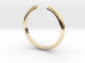 Open Ring in 14k Gold Plated Brass