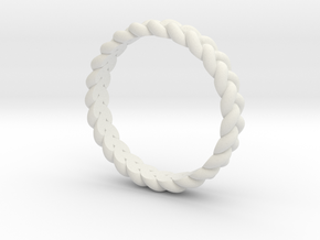 ring pigtail in White Natural Versatile Plastic: 10.25 / 62.125