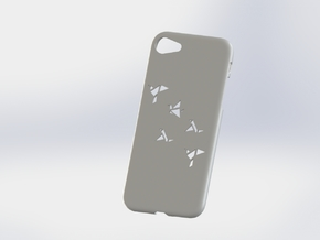 Iphone 7 Case, Geometric Brids in White Processed Versatile Plastic