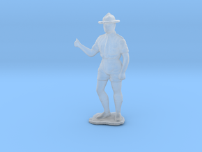 HO Scale Boy Scout  in Smooth Fine Detail Plastic