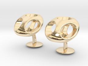 TriCufflinks in 14k Gold Plated Brass
