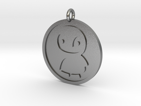 Penguin Pendant in Natural Silver