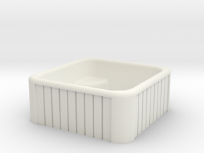 1:64 Jacuzzi Hot Tub in White Natural Versatile Plastic