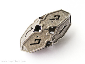 #SALE# Amonkhet D10 gaming die - Large, hollow in Stainless Steel